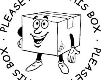 Reuse This Box - Rubber Stamp