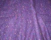 1 1/4 yards 62 wide Vintage 80s purple Wool tweed  Fabric