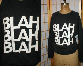 80s Iggy Pop Blah Blah Blah sweatshirt size large xtra large