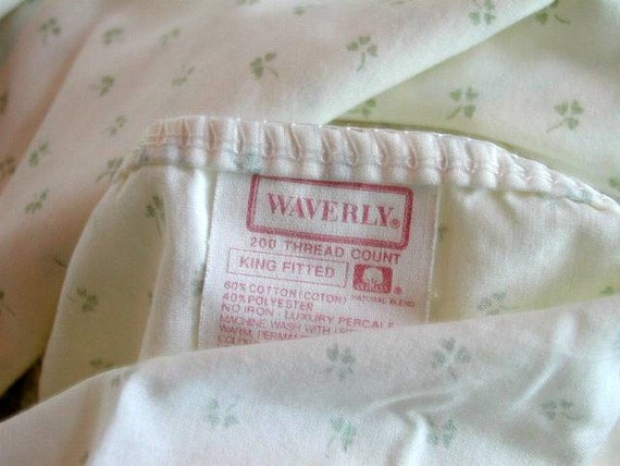 Vintage Waverly Lily Of The Valley And Clover Print Fabric