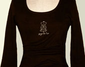Shopping for Two Chocolate Scoop Neck Maternity Tee (Large)