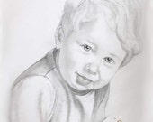 PENCIL PORTRAIT SALE / Custom 11 X 14 on heavy stock paper