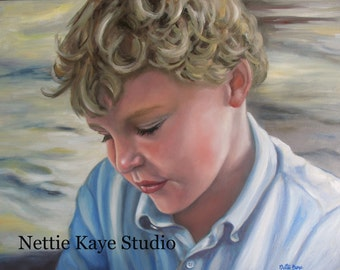 CUSTOM PORTRAIT of child  18 x 24 oil