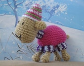 Cosy Sheep toy crochet pattern. PDF. 8 pages including 17 photos. Cute little lamb.