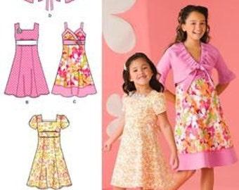 DRESS - JACKET PATTERN For Girls in Sizes 3 To 6 Or 7 To 14