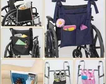 WALKER ORGANIZER PATTERN - Also For Wheelchair, Chair Arms or Bedside