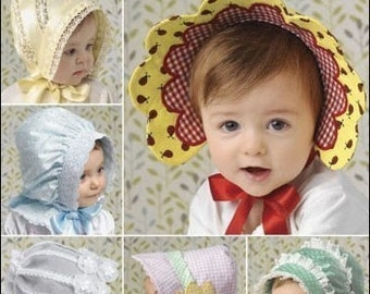 HAT - BONNET PATTERN / Four Pretty Styles For Baby Girls