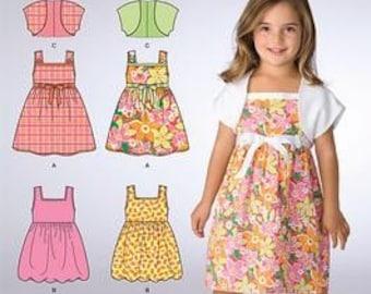 DRESS - BOLERO PATTERN in sizes 3 to 8 - Easy to Do