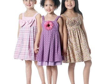 GIRLS SUNDRESS PATTERN / Sale! / Dress In Sizes 2 To 5 Or 6 To 8