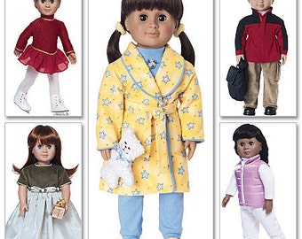DOLL CLOTHES PATTERN / American Girl - 18 Inch Dolls / Boy and Girl Outfits / Logan / Retired