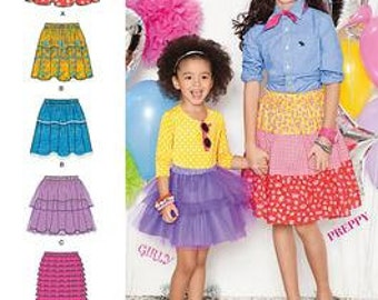 GIRLS CLOTHES PATTERN / Make Fun Skirts / Child Size 3 to Girl Size 14