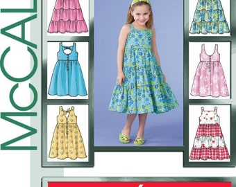 CHILD SUNDRESS PATTERN In 6 Styles and Sizes 2 To 5 Or 6 To 8