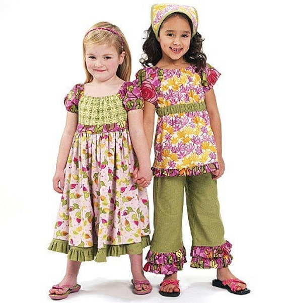 TOP - CAPRI PANTS / Boutique Style / Dress and Kerchief /Fun Mix and Match Clothes for Little Girls