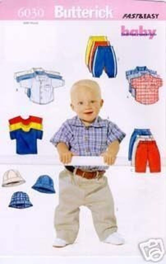 BOY CLOTHES PATTERN / Baby Sweat Pants - Jeans - T-shirt - Shirt - Hat