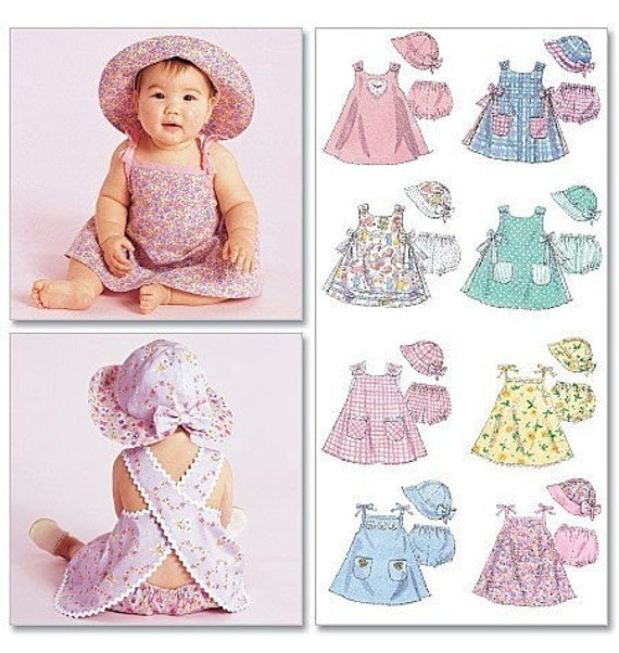 BABY CLOTHES PATTERN / Sundress Hat with Bow and Brim