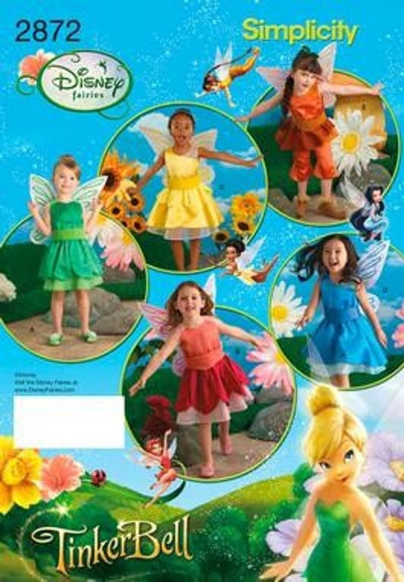 FAIRY COSTUME PATTERN / Retired / Five Styles Including Tinkerbell / Sizes 3 to 8