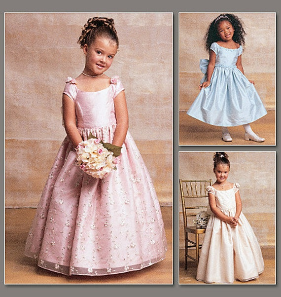 Fancy Dress Pattern Vogue Flower Girl First By