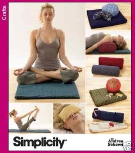 Yoga Bolster Meditation: YOGA ACCESSORIES SEWING PATTERN / MAT MEDITATION By