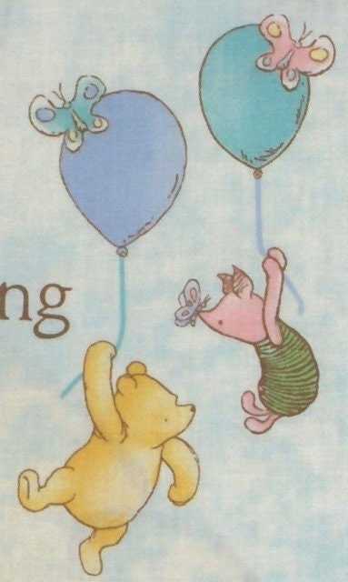 Classic Winnie The Pooh And Piglet Fabric Panel For Wall