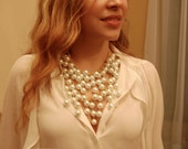 Large Pearl Necklace - Inspired by 2 broke girls Caroline's necklace