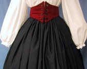 Long Black Skirt - Renaissance Faire Costume, Medieval, Gothic, Colonial, Pilgrim, Civil War Reenactment - Handmade