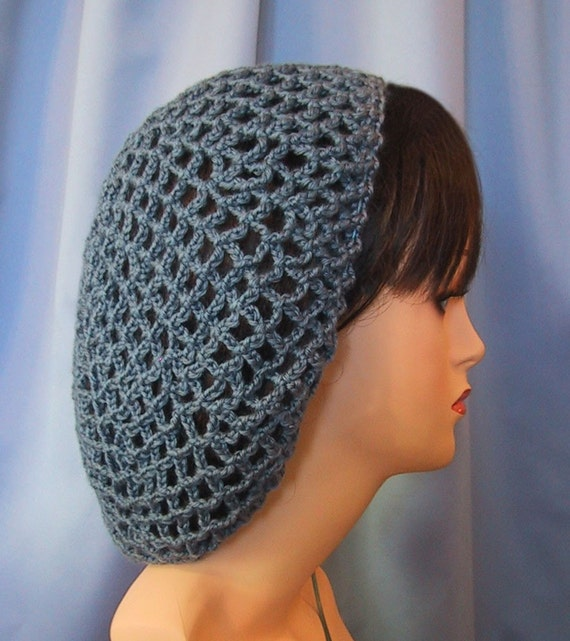 Crochet Hair Net Snood Pattern : Crocheted Snood Hair Net Retro Renaissance by stitchintimedesigns