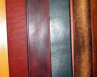 Your Choice Hand Made Custom Dyed Custom Sized Wide Leather Belt