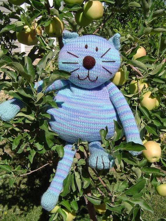 Knitted Bean Bag Cat
