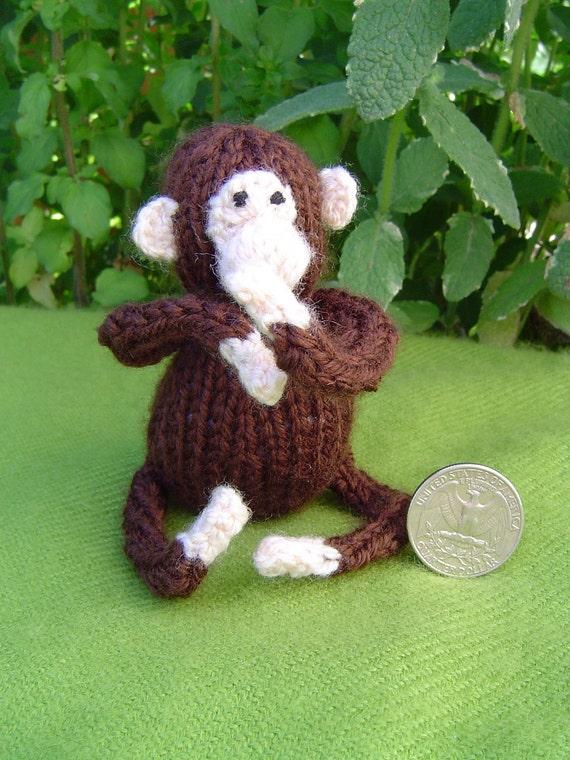 Tiny knitted monkey