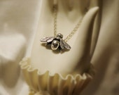 Bijou - large silver bee necklace