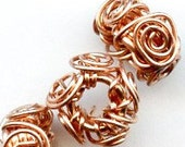 Hand-Wrought Copper Wire Beads