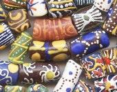 Krobo Beads - 50 Assorted Handmade Powdered Glass Hand Painted