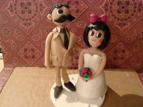 Custom Natty Boh And Utz Girl Wedding Cake Topper By Mudcards