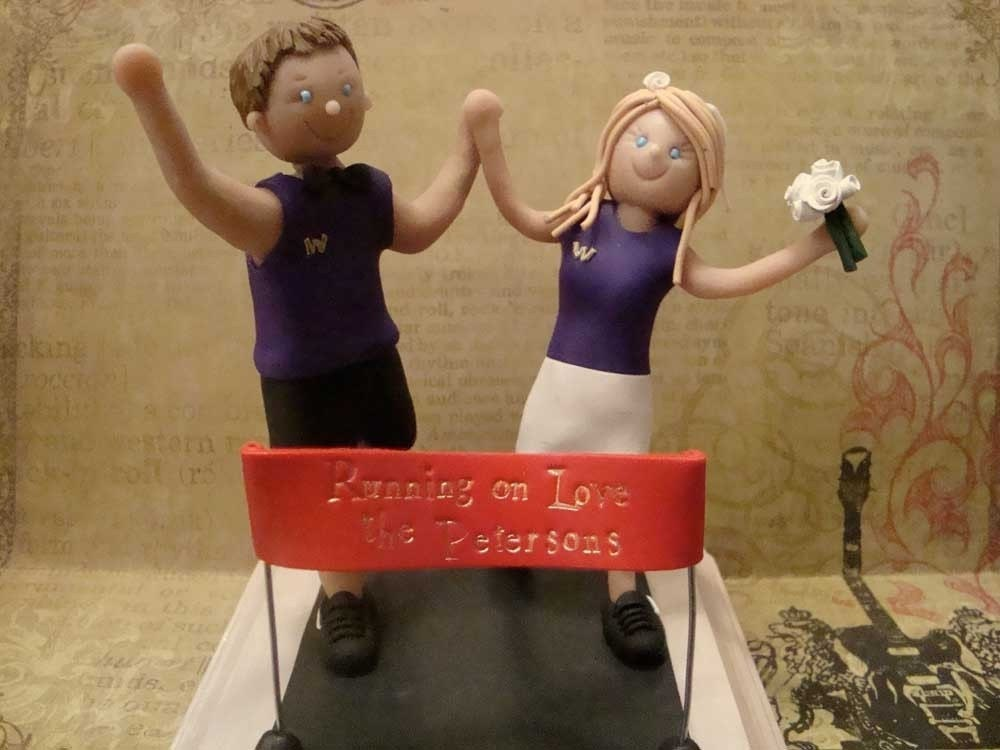 Custom Polymer Clay Runners Wedding Cake Topper Reserved For