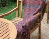 Hand Knit Shawl - Prayer Shawl - Wrap - Fall Accessories - Winter Accessories - Weddings - Prom