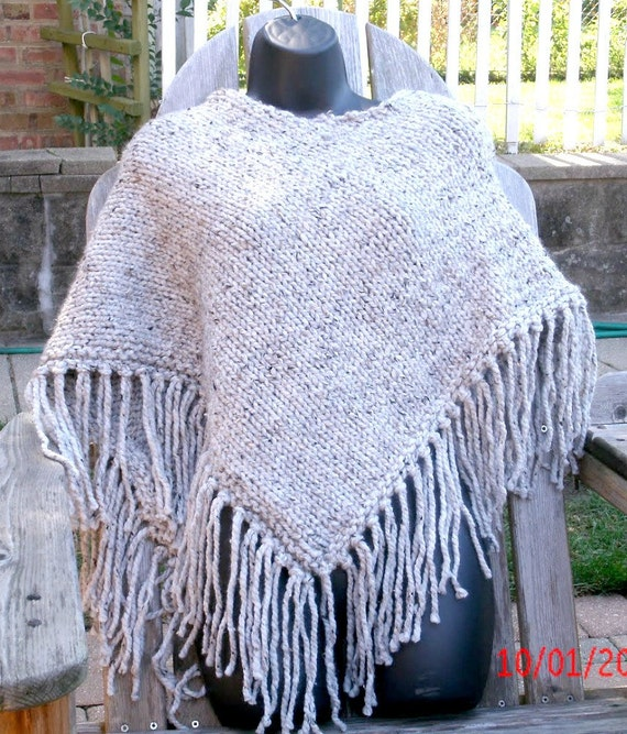 Hand Knit Poncho - Women's Poncho - Knitted Poncho - Womens Accessories