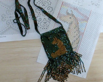Golden Llama Amulet Treasure Bag