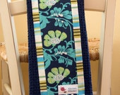 Friday Navy Jasmine Stripe Tea Towel - Amy Butler Fabric
