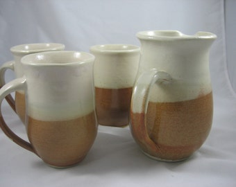 Pitcher and Matching Cups