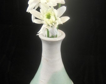 Small Green and White Vase