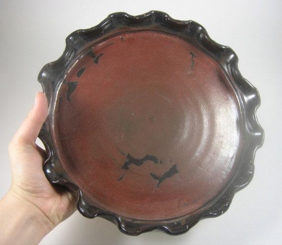 Rust Colored Pie Pan