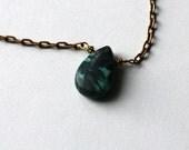 LIGHTNING STRIKES malachite necklace