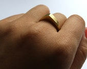 FREQUENCY brass organic geometric ring