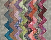 "Art Quilt Wall Hanging - ""ZigZag"" RESERVED for Bonnie"