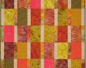 """Modern Art Quilt - """"Colors of Autumn"""""""
