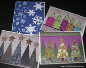 Christmas Quilt Note Cards - Set of 4
