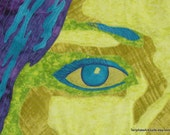 Art Quilt - Close-up of Eye - Partial Portrait in Cloth