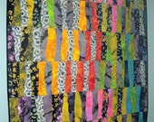 Art Quilt Wall Hanging Brightly Colored Fiber Art