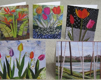 Art Quilt Cards - Set of 5