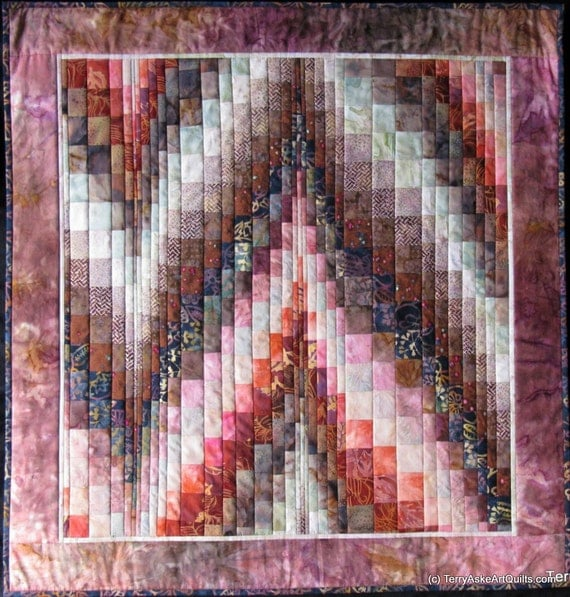 Quilted Wall Hanging - Bargello Style